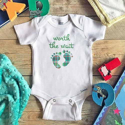 d4d8fcfa4e4f8 Worth the Wait Pregnancy Announcement Gender Reveal Onesie
