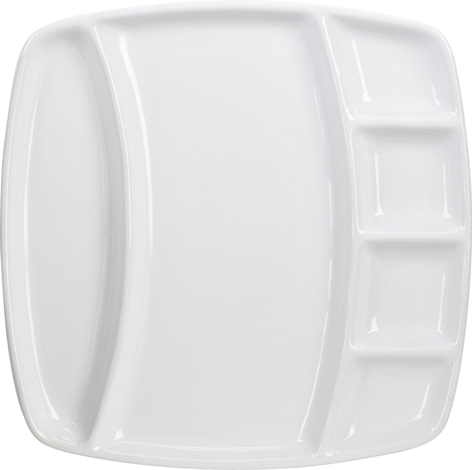 4-Piece Square Fondue Plates-Home Presence