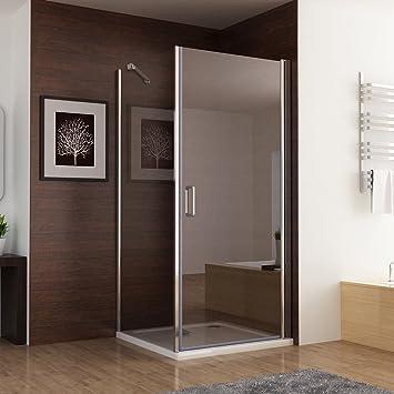 75 x 75 cm Duschkabine Eckeinstieg Dusche Falttür Duschwand 75cm Seitenwand 195