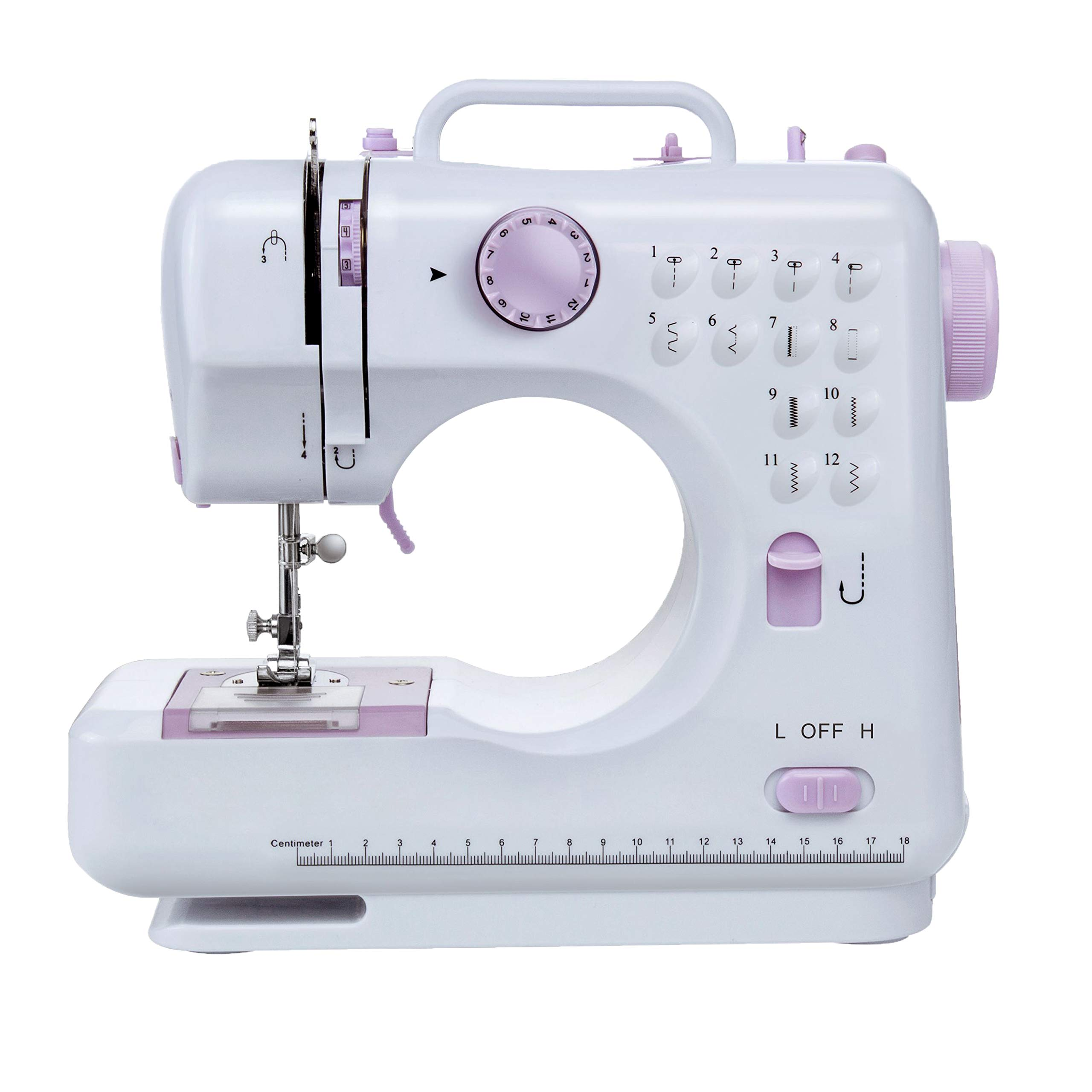 Varmax Sewing Machine with 12 Stitches Multifunctional Sewing Machine with Zigzags Backstitch Buttonholing by Varmax