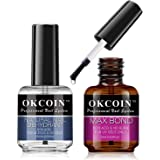 OKCOIN Professional Nail Dehydrator and Primer Max Bond, No Burn PH Balance Nail Prep Dehydrator and Primer Set, Acid Free Su