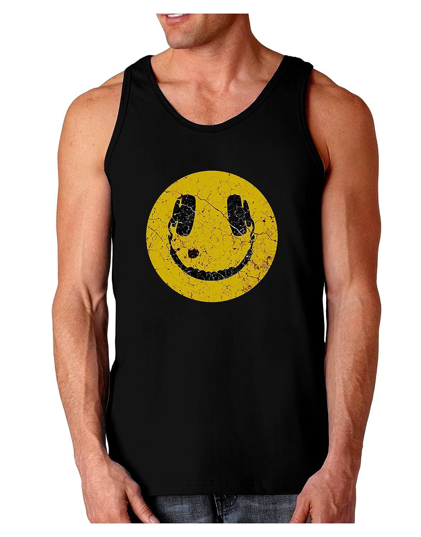 TooLoud EDM Smiley Face Dark Loose Tank Top