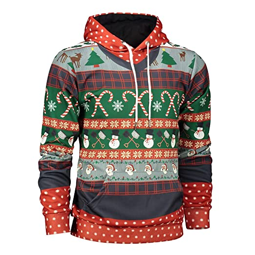 TAGGMY Christmas Clothes for Men Plus Size Black Xmas 3D Print Long Sleeve  Hoodies Sweatshirt 5XL XXXXXL Pullover Tops Blouse at Amazon Men s Clothing  store ... 4f783f0a1