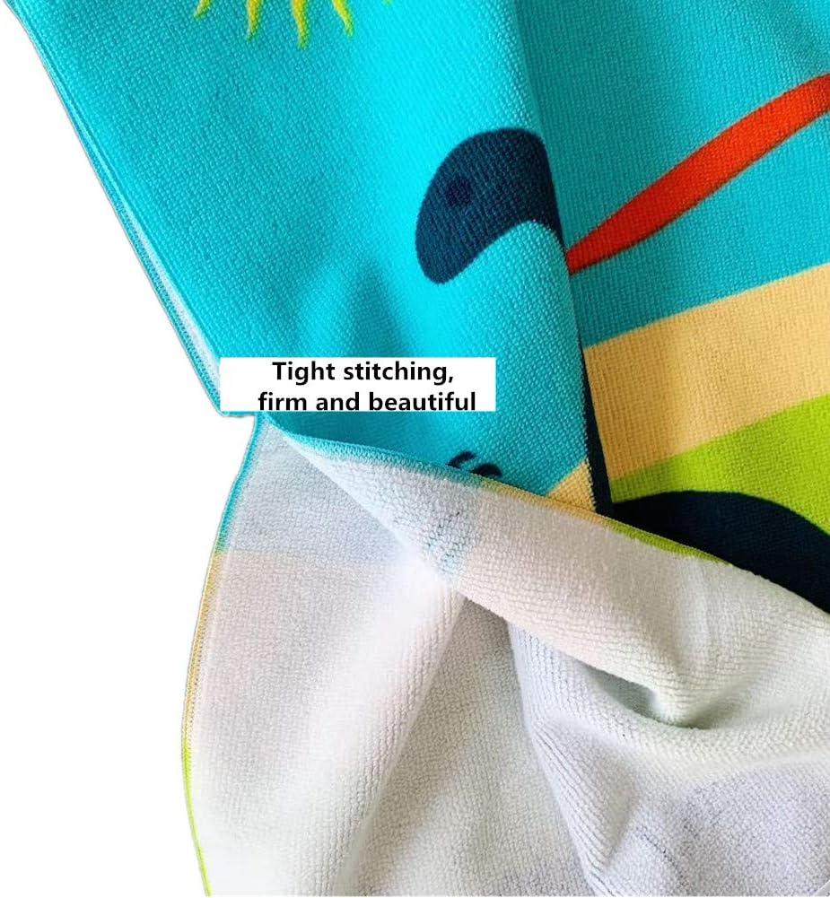 Chickwin Microfibre Serviette avec Capuche Cartoon Peignoir De S/échage Rapide Robe de Bain Plage Poncho de Natation pour Gar/çons et Filles Poncho /à Capuche Enfants 60x120cm,Dinosaure vert