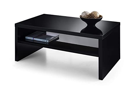 Metro Modern High Gloss Rectangle Glass Coffee Table Living room coffee Table