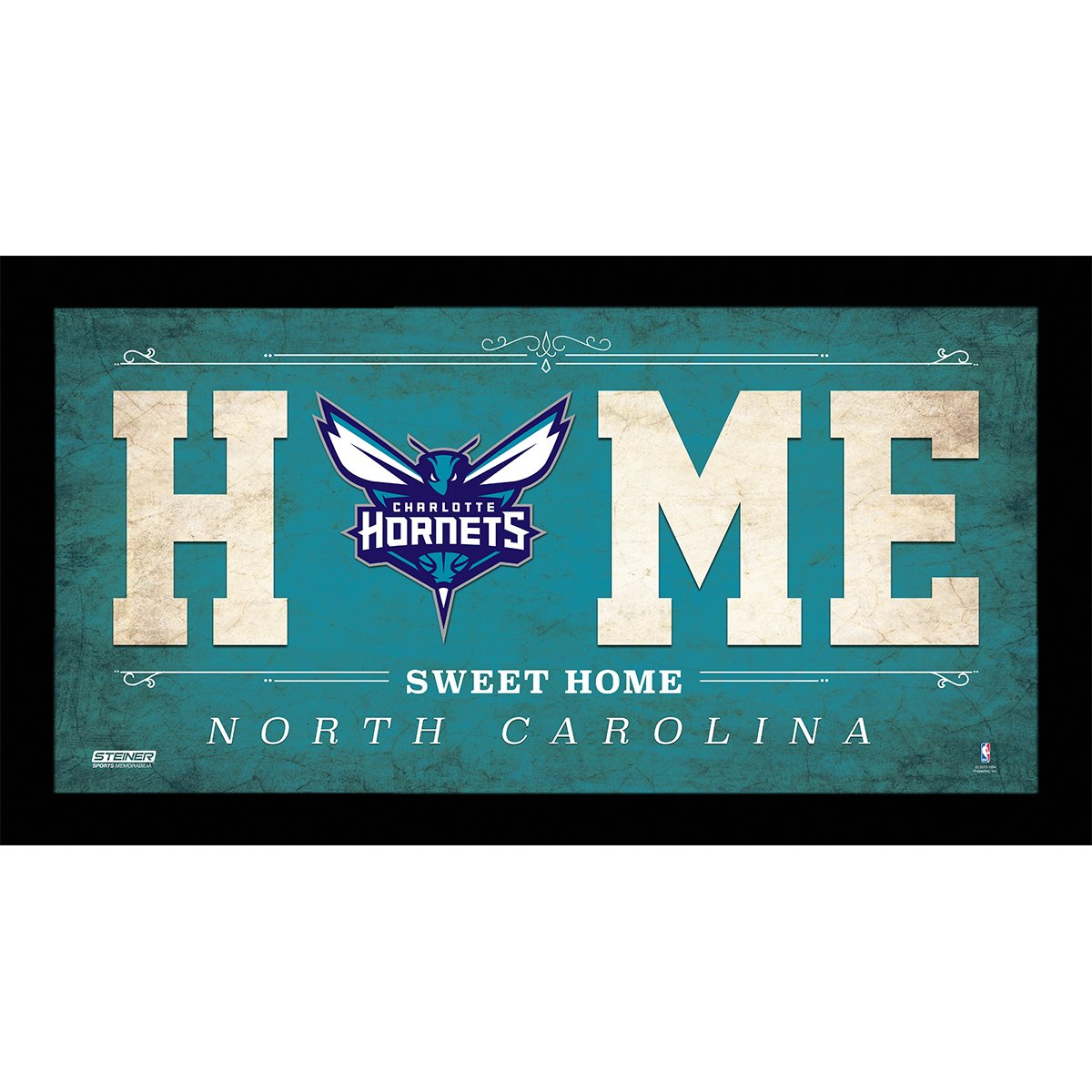 Steiner Sports NBA Charlotte Hornets Home Sweet Home Sign, 10 x 20, Teal