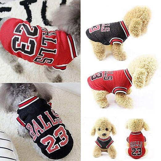 ForUUU Ropa Perros Pequeños, Camisas Perros Ropa Perros Verano Deporte Ropa de Perrito Traje Mascotas Perros Camiseta de Moda, Negro, Rojo (S, Negro): Amazon.es: Productos para mascotas
