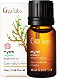 Gya Labs Myrrh Essential Oil Organic - Great for Meditation, Skin Care & Muscle Pain Relief - Topical Use for Dry Skin…