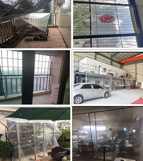 MYYDD Lona Transparente A Prueba de Lluvia Aislante Impermeable Lona plástica Hoja de la Planta Flor de Vapor Ventana A Prueba de Viento Invernadero Refugio,2X8m: Amazon.es: Hogar