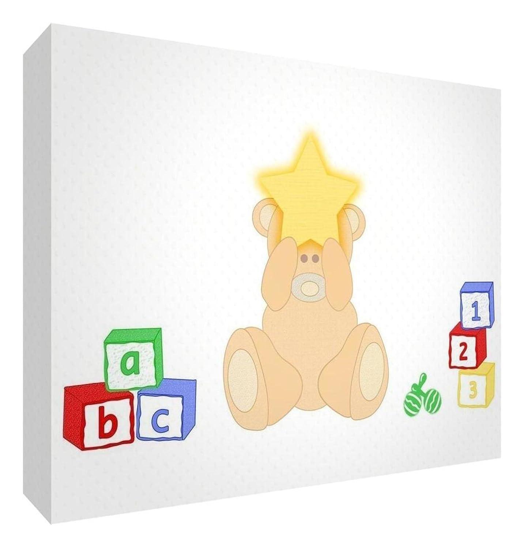 Feel Good Art Decorative bearheart-a5blk-15it Token in Acrylic, Diamond Sanding with Leaflet Design Bear, Multicoloured, Large 14.8 x 21 x 2 cm multi-coloured BC-HAPHME-A5BLK-01