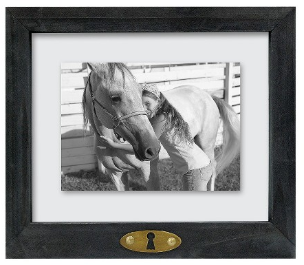 "8""x10"" Keyhole Floating Frame Weathered Grey - Threshold™ : Target"
