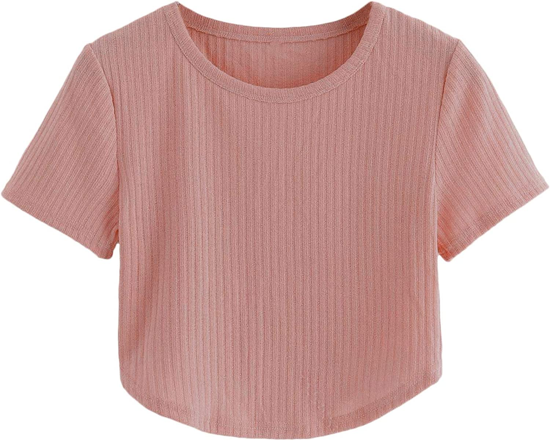 Girls Teens Ladies Crop Top Tank Top Summer Casual Cropped T-Shirt Party Varsity