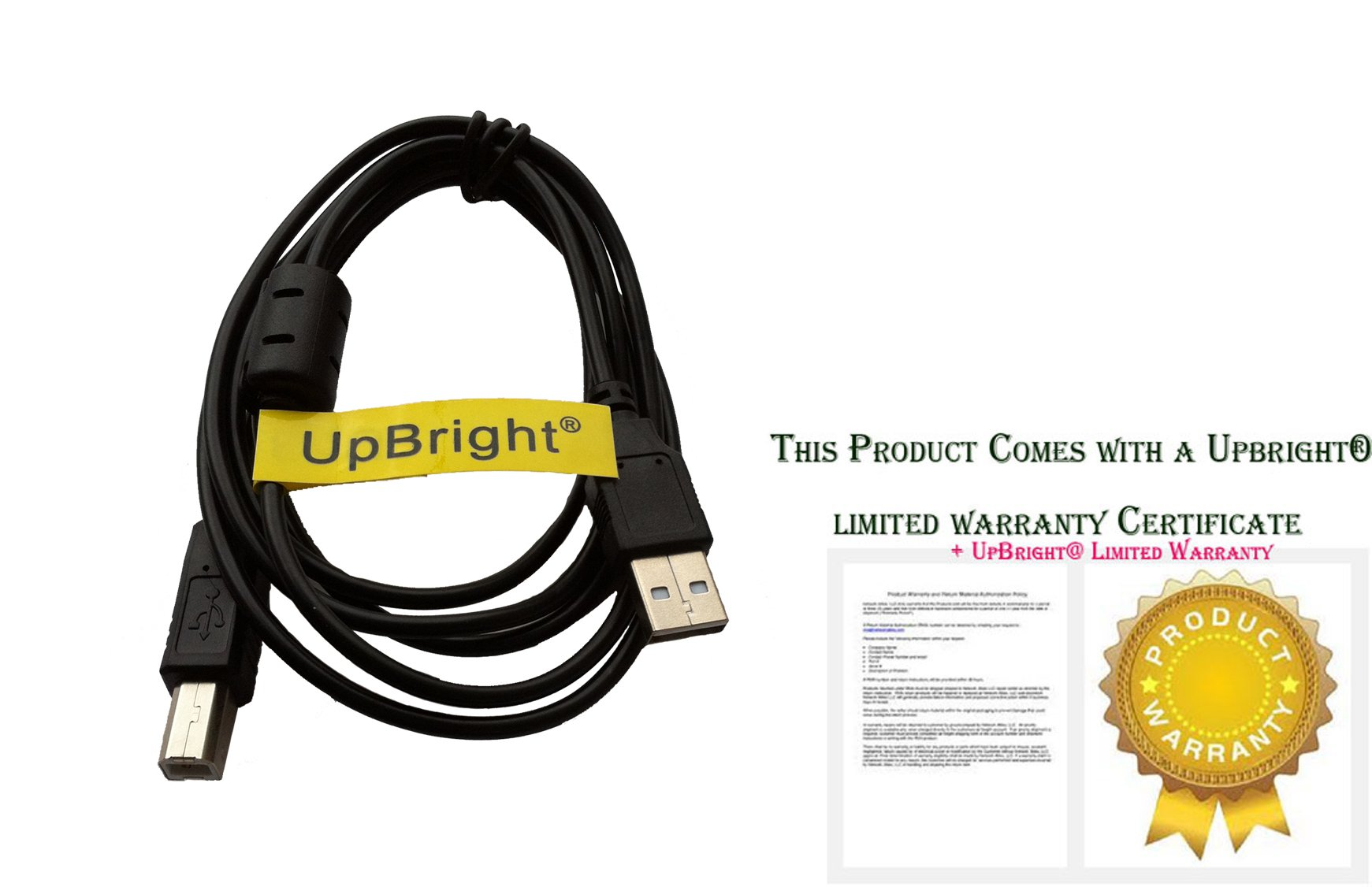 UpBright New USB 2.0 Cable PC Laptop Data Cord For DigiTech RP500 Guitar Integrated Effect Pedal / DigiTech RP155 RP255 RP355 Pedal Modeling Guitar Processor
