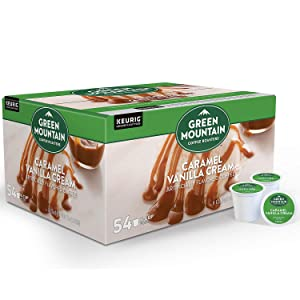 Evaxo Green Mountain Coffee Caramel Vanilla Cream Flavored K-Cup Pods (54 ct.)