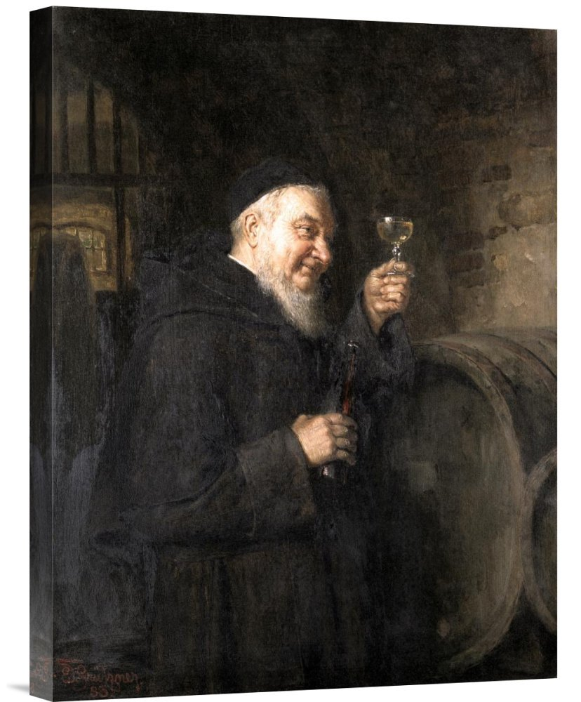 Global Gallery GCS-277822-22-142 ''Eduard Von Grutzner Good Health'' Gallery Wrap Giclee on Canvas Wall Art Print