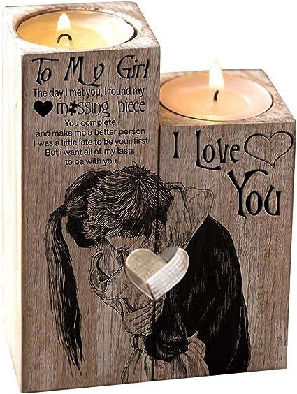 FEMME carte d/'anniversaire en bois cœur anniversaire cadeaux pour sa petite amie st-valentin