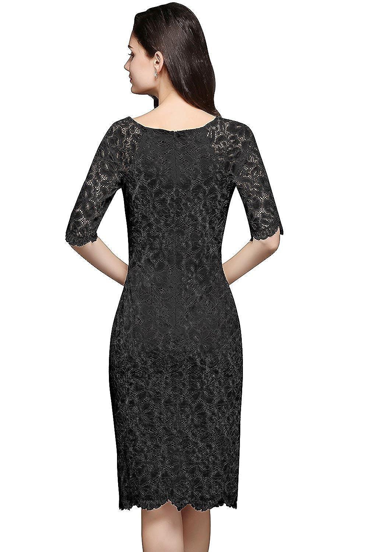 da993e14f35dce MisShow Damen Spitzenkleid Elegant Abendkleid Etuikleid Cocktailkleid apart  Kleid: Amazon.de: Bekleidung