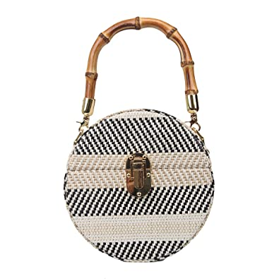 Amazon.com: Fawziya - Bolso de mano de bambú para mujer, con ...