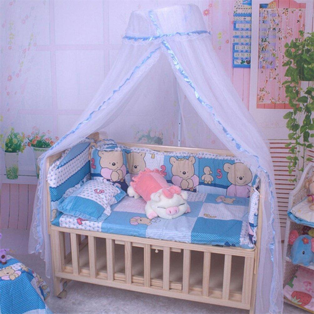 Moustiquaire Bismarckbeer transparente pour berceau de bébé - Moustiquaire suspendue pour lit d'enfant - Accessoire de décoration pour chambre à coucher, rose, Taille unique