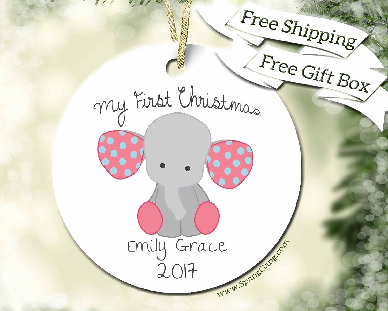 Amazon.com: Baby\'s 1st Christmas Gift, First Christmas Ornament Girl ...