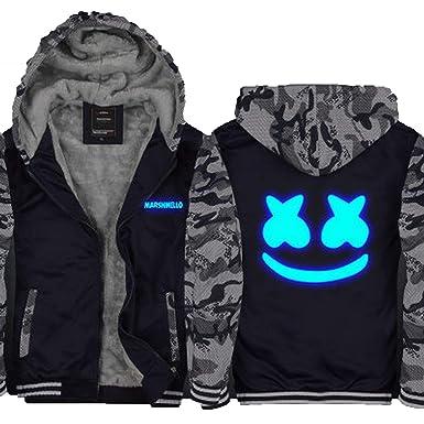 10d33d2f8 Amazon.com: yihoudeyihou Winter Jackets and Coat Marshmello Hoodie Thicken  and Pile Thick Zipper Men Sweatshirts: Clothing