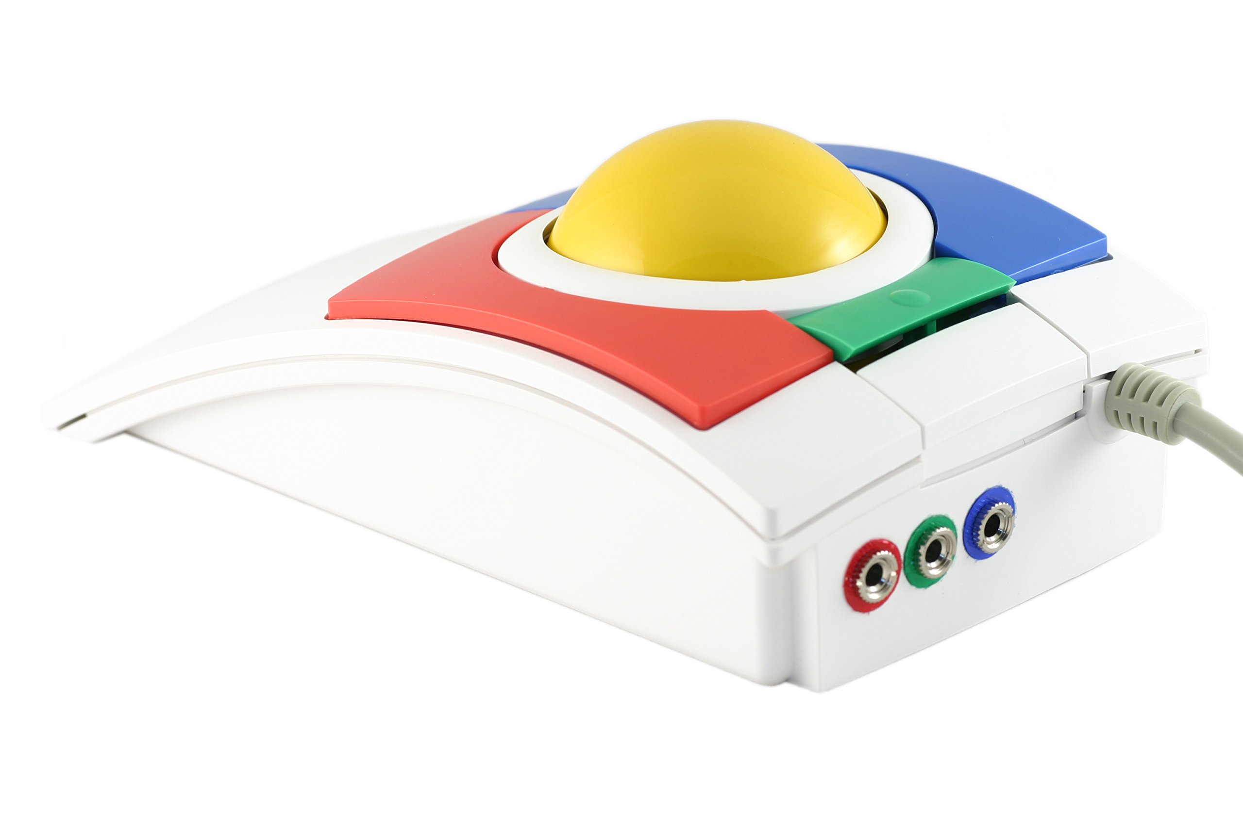 CST1350SA USB-PS/2 Wired Ambidextrous Ergonomic Colorful Switch Adapted Trackball - Made in the USA