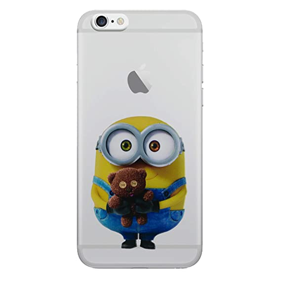 finest selection e47a0 6e270 Amazon.com: iPhone 5/5s Minions Cartoon Silicone Phone Case / Gel ...