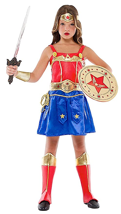 2156f15435c8 Costume di Carnevale da Ragazza GUERRIERA Vestito per Ragazza Bambina 7-10  Anni Travestimento Veneziano