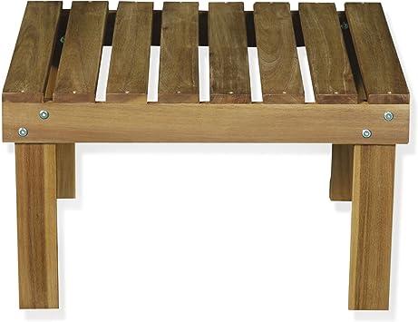 Bergonce Table basse de jardin en acacia huilé Naturel ...