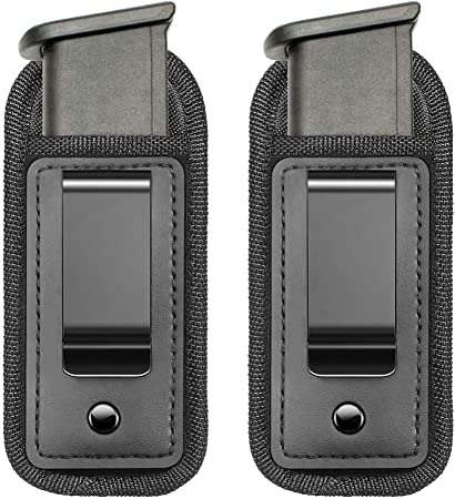 TACwolf IWB Waistband Pistol Handgun Magazine Holster Pouch for 9mm .40 .45 Fits 7 10 15 Round Single Double Stack Mags for Glock17 26 19 Sig Sauer S&W Springfield XD M1911 Ruger