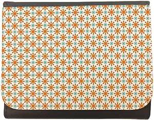 محفظة جلد  بتصميم رسوم زخرفية ، مقاس 12cm X 10cm