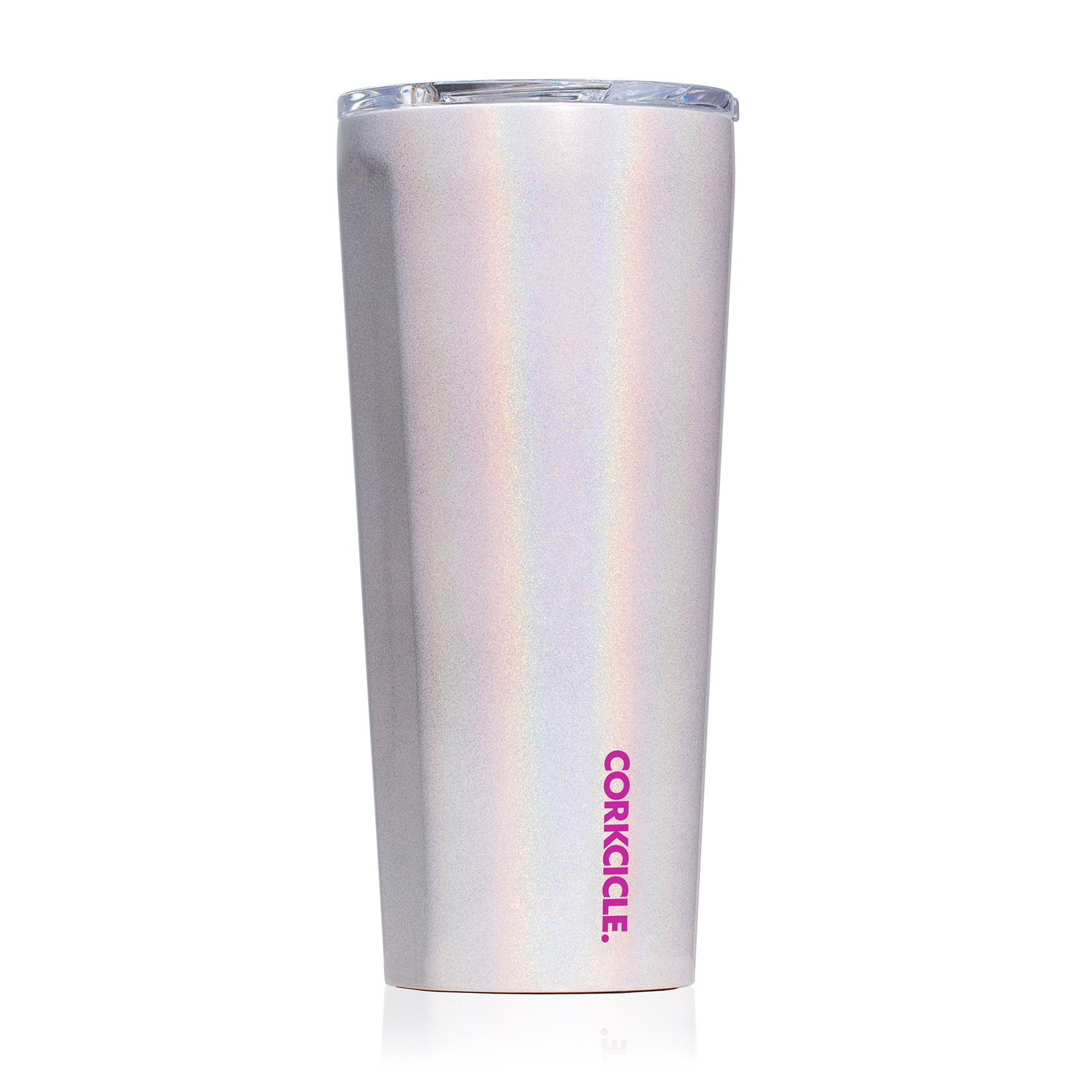 Corkcicle Tumbler - Classic Collection - Triple Insulated Stainless Steel Travel Mug, Sparkle Unicorn Magic, 24 oz