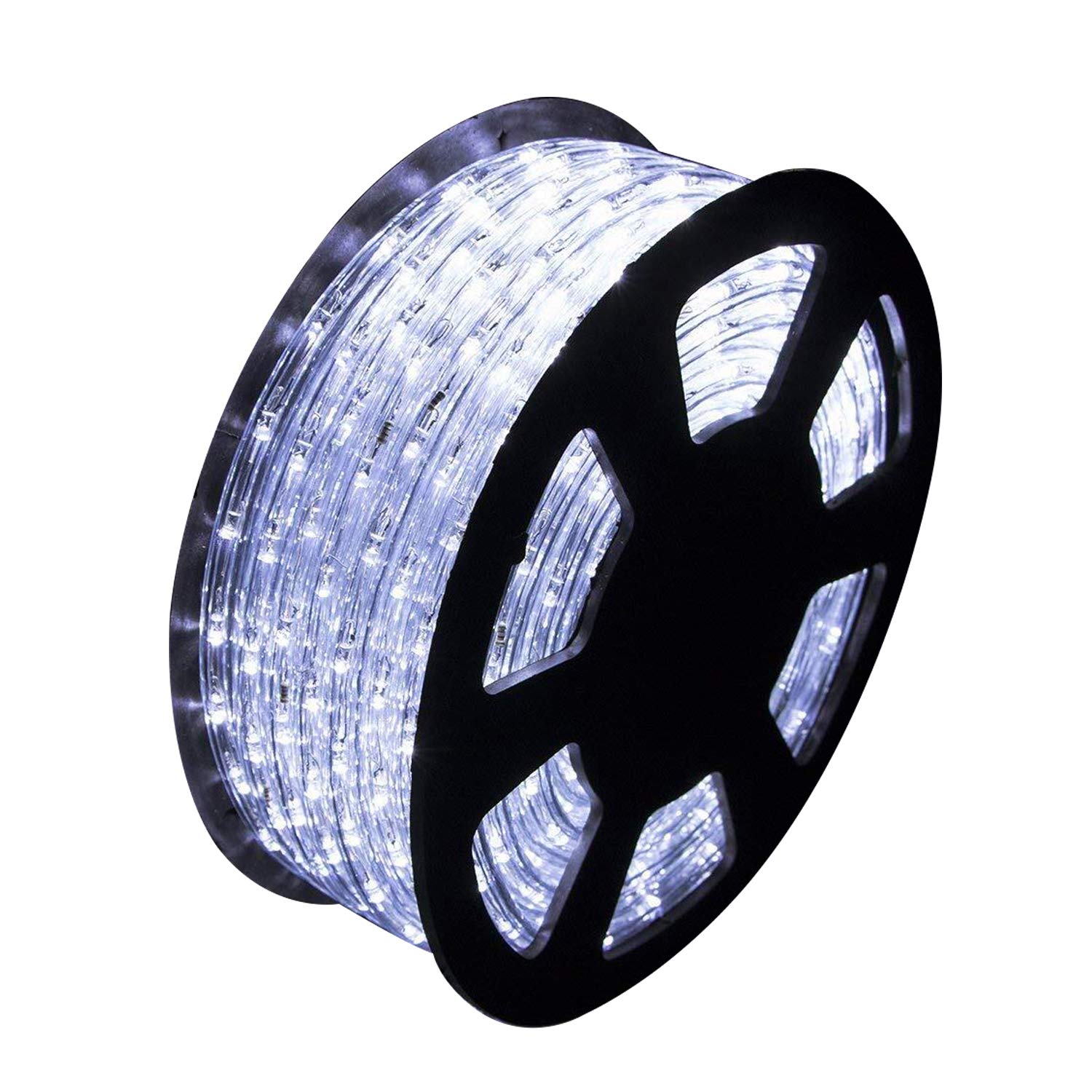 Ainfox LED Rope Light, 150Ft 1620 LEDs Indoor Outdoor Waterproof LED Strip Lights Decorative Lighting (150FT Cold White) by Ainfox (Image #9)