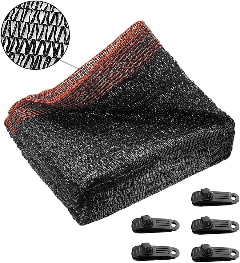 Osimlead 50% Black Shade Cloth Sunblock Mesh Net UV Resistant Shade Tarp for Greenhouse Garden Flower Plant Cover 6.5 ft X 10 ft