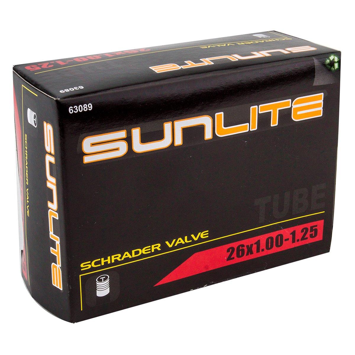 Sunlite Fahrradschlauch 26 x 1.00–1.25 Schrader Ventil