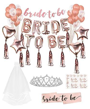 Amazon.com: Lehoo Castle - Globo de novia para decoración de ...