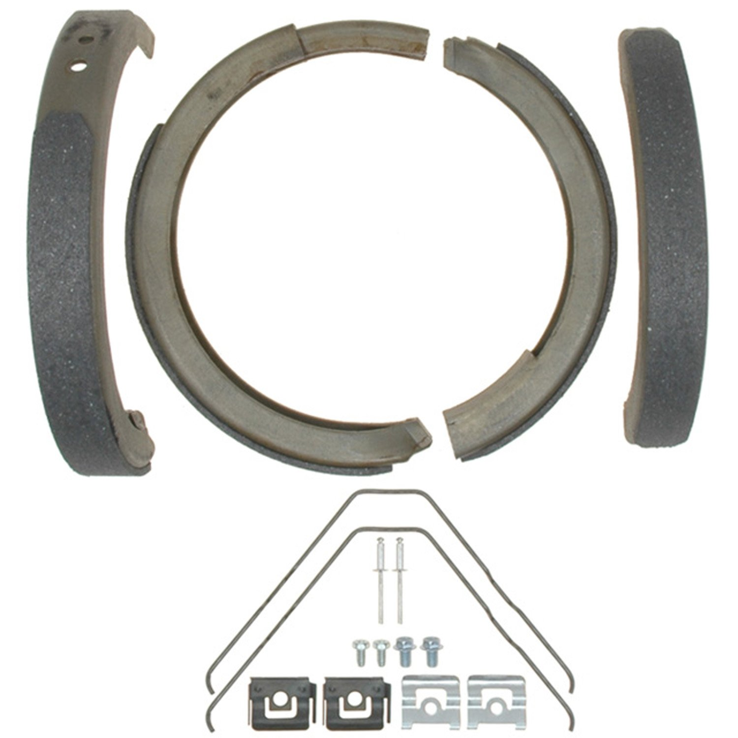 ACDelco 14784B Advantage Bonded Rear Parking Brake Shoe with Hardware