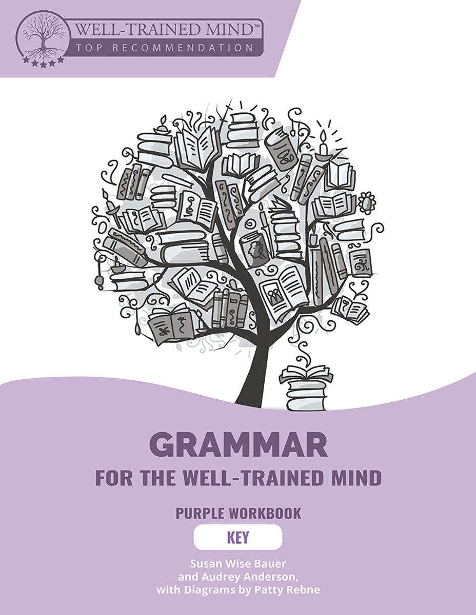 Grammar for the Well-Trained Mind: Key to Purple Workbook: A Complete Course for Young Writers, Aspiring Rhetoricians,  and Anyone Else Who Needs to ... Works (Grammar for the Well-Trained Mind)