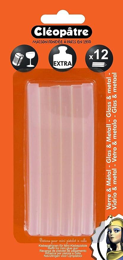 Cleopatre - PO12REF - Pack de 12 barritas de cola extra fuerte, para materiales lisos: Amazon.es: Oficina y papelería