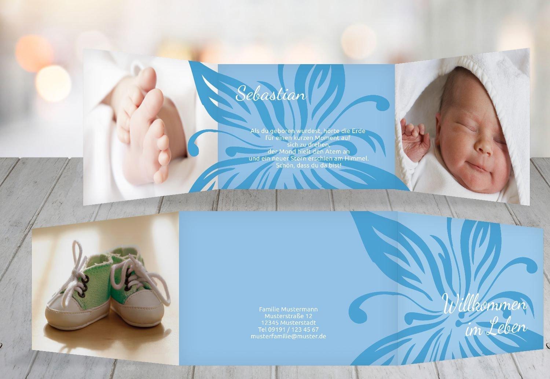 Kartenparadies Geburtskarte Geburtskarte Geburtskarte Babykarte Blaume, hochwertige Babykarte zur Geburt inklusive Umschläge   20 Karten - (Format  148x105 mm) Farbe  DunkelGrün B01N6WJTAK | Moderater Preis  | Wir haben von unseren Kunden Lob erhalten.  | Bequeme Berüh 3e0959
