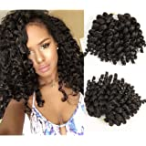 8 inch 3 packs Wand Curl 2X Synthetic Braiding Hair Crochet 22 roots/1pack Jamaican Bounce Synthetic Hair Extension 65g