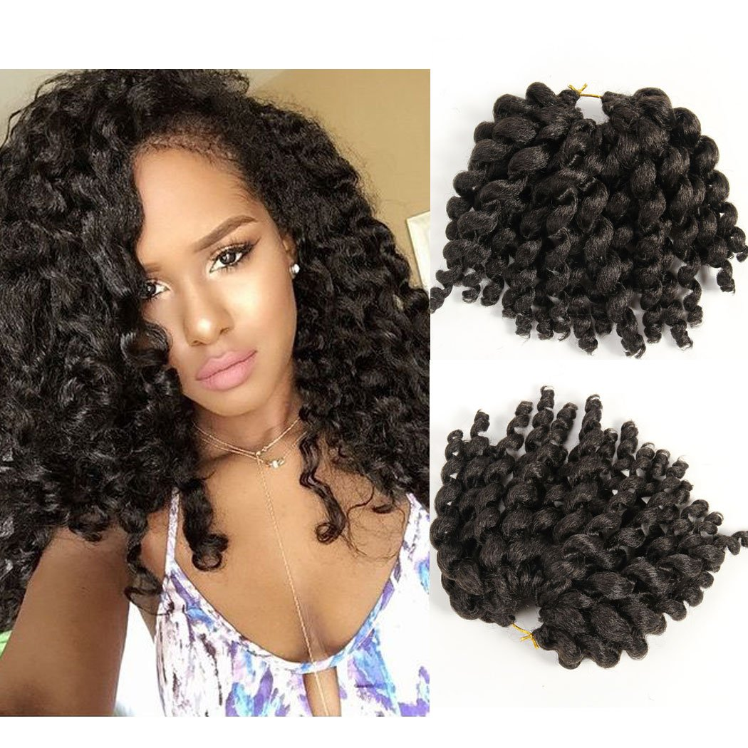 New Jamaican Bounce Hair Extension Wand Curl Crochet Synthetic Hair
