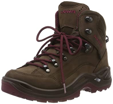 4a6c61cd3d40 Lowa Renegade Gore-Tex Mid Espresso Berry Womens Boots Size 4.5 UK