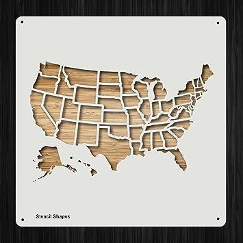 Amazon.com: United States America Map Geography Borders Plastic ...