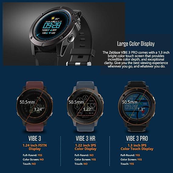 Amazon Com Heart Rate Smartwatch Zeblaze Vibe 3 Pro Waterproof