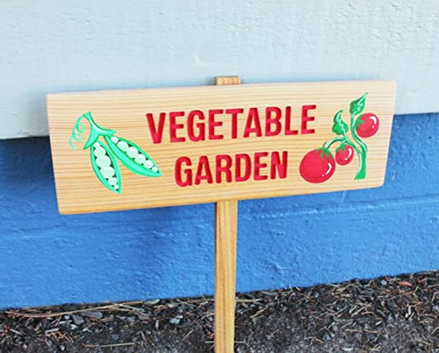Well-known Amazon.com: Vegetable Garden Sign, Personalized Garden Sign, Sweet  XL14