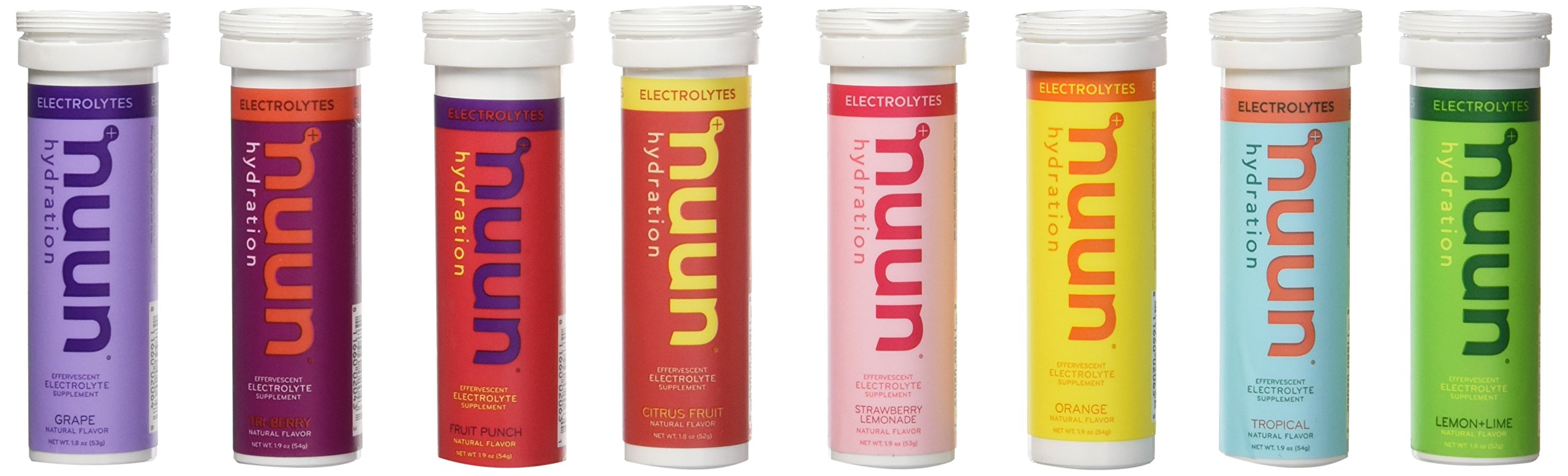 New Nuun Active: Hydrating Electrolyte Tablets, Citrus Berry Mix + Juicebox Mix, 8-flavor Variety Pack