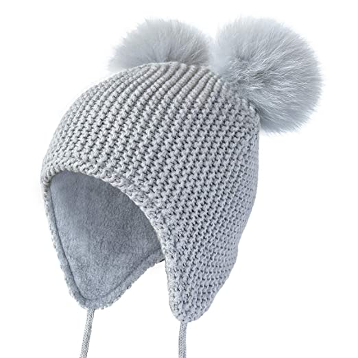 e78ae0a0ebe Amazon.com  ENJOYFUR Toddler Winter Beanie Hats