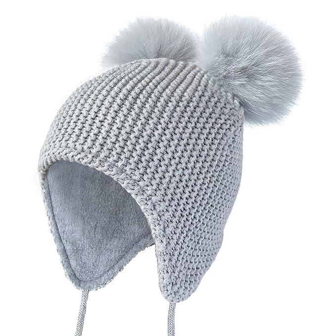 1a172d95338f0 Amazon.com  ENJOYFUR Toddler Winter Beanie Hats