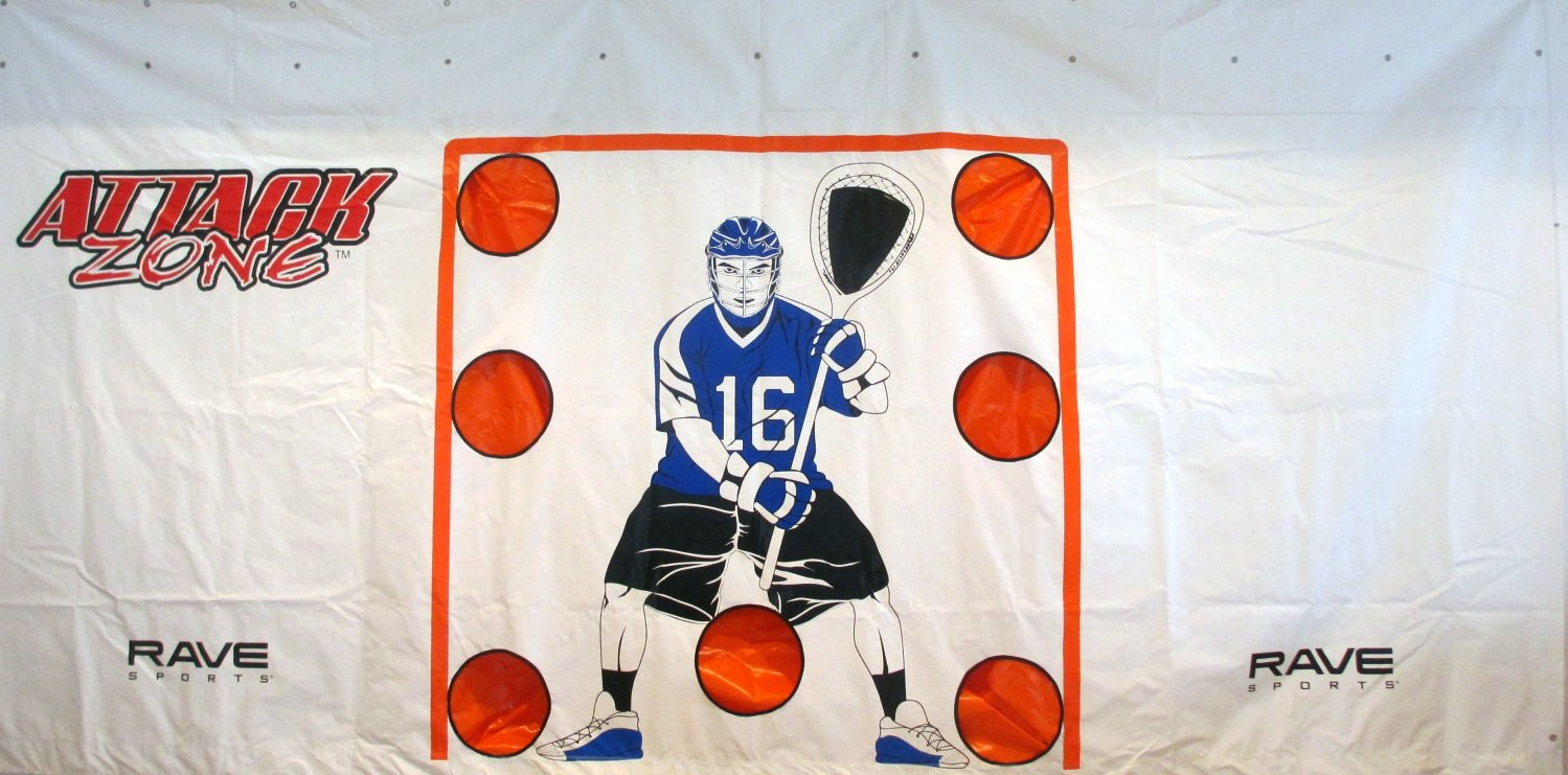 RAVE Sports Attack Zone 16' x 8' Lacrosse Shooting Tarp by RAVE Sports